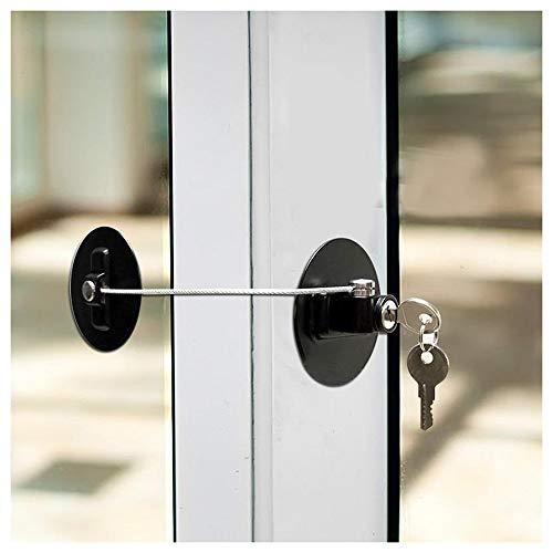 Children's Window Koelkast Safety Limit Slot Met roestvrij stalen sleutel Cilinder, Deuren en ramen accessoires, 1pc