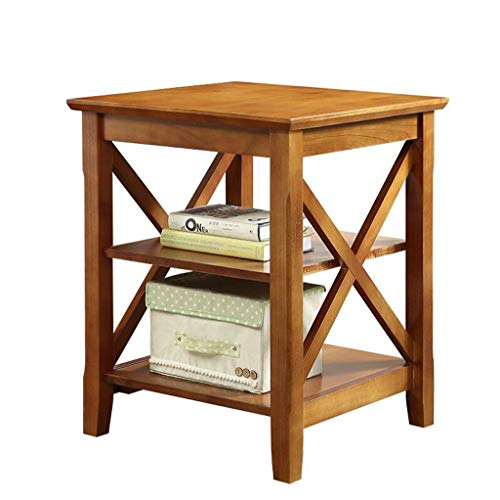 noyydh Tavolino in Legno massello Divano Armadio Laterale Tavolo da Pranzo Quadrato Locker Living Room Corner Cabinet Square