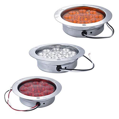 Sharplace 3X Lampe Feux 12 LED Frein Clignotant Indicateur Moto Lumière Camion RV 12V 24V