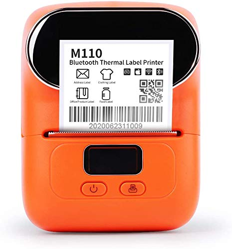 Phomemo M110 Bluetooth Label Maker, Portable Bluetooth Thermal Label Printer with Rechargeable Battery, Apply to Labeling, Office, Cable, Retail, Barcode and More, Compatible for Android & iOS System