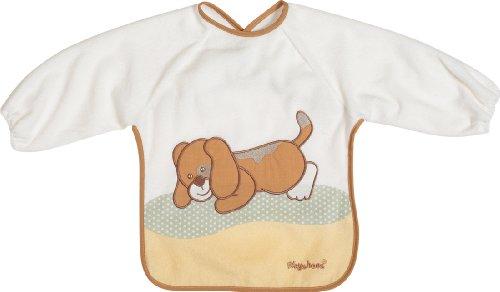 Playshoes 507197-135 - Babero de manga larga, diseño de perro, 39 x 30 cm, color marrón