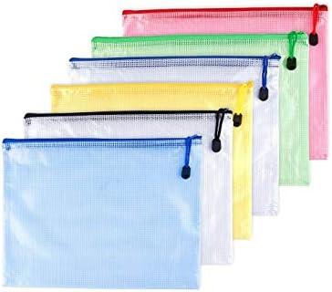 OAIMYY A6 Waterproof Tear Resistant Plastic Zipper Pen File Document Folders Pockets Travel product image