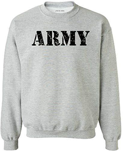 Joe's USA - Vintage Army Crewneck Sweatshirts - Army Grey - X-Large