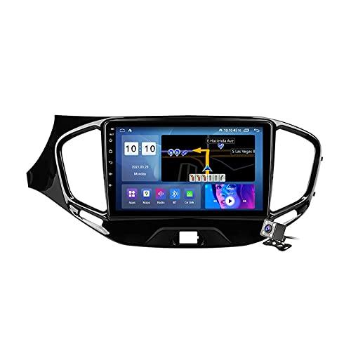 Radio de coche Android 10 de 9 pulgadas con doble dinar GPS para Lada Vesta Cross Sport 2015-2020 incorporado Carplay soporte 5G WiFi pantalla dividida/control del volante/cámara de visión trasera