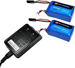 MaximalPower Replacement Drone Battery 2600mAh 11.1v & Charger for Parrot AR.Drone 1.0 & 2.0 (1 Charger + 2 Batteries)