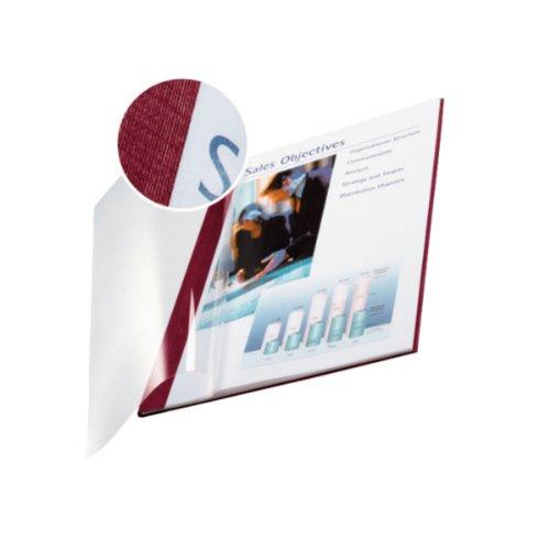 Leitz 73980028 Buchbindemappe impressBIND, Soft Cover, A4, 3,5 mm, 10 Stück, bordeaux