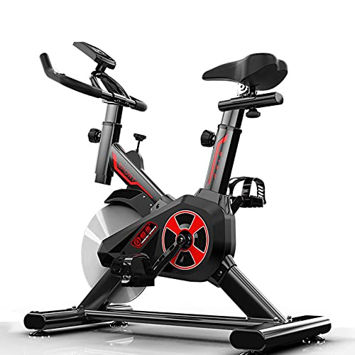 WBYY Bicicleta estáticas para Fitness, Bici de Spinning, Pantalla LCD, Spinning Bike con Resistencia Ilimitada, Asiento Ajustable,Negro