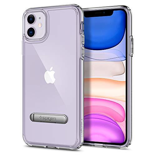 【Spigen】 iPhone 11 ケース 6.1インチ 対応 スタンド付き キックスタンド 全面 クリア 米軍MIL規格取得 ウルトラ・ハイブリッド S 076CS27433 (クリスタル・クリア)