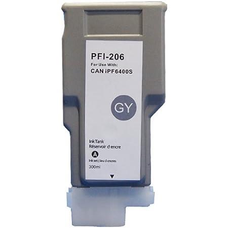 3年保証 キャノン (CANON)用【 PFI-206GY 】互換 インクタンク (インクカートリッジ) iPF シリーズ対応 5312B001 ベルカラー製