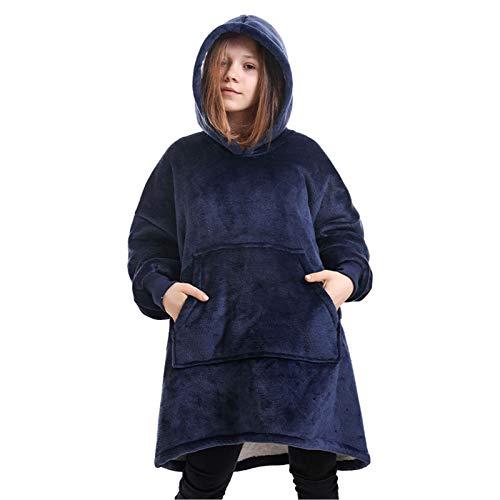 Manta Sudadera con Capucha, Suave y Acogedora Sweatshirt con Capucha, 1 tamaño para Adolescentes,Blue 3,One