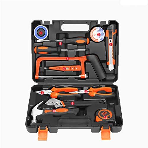 P.CHUXIN Juego de herramientas para el hogar, herramienta manual de reparación general, caja de almacenamiento con caja de herramientas de plástico (D)