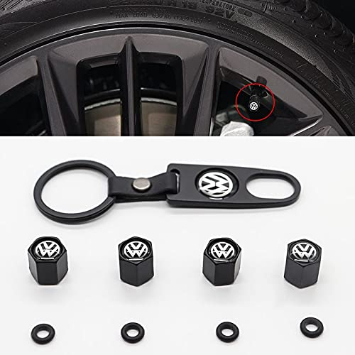 WOLHJ Partes de automóviles Cubierta de la válvula Universal, la Cubierta de la válvula del neumático del automóvil es Adecuada Compatible con VW-, Puede usarse como Llavero (Color : Q)