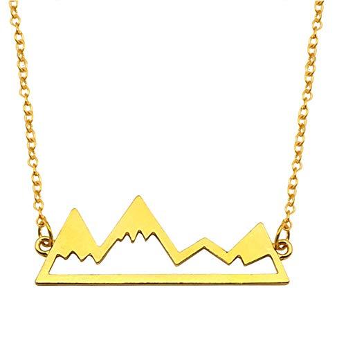 Ornamento Colgante Collar De Picos De Aleación De Mujeres Collar De Montaña Cielo Abierto Del Cuello Del Ornamento Montaña Joyería