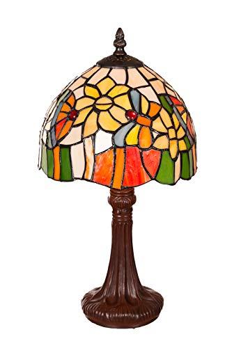 Tiffany Tiffany 154 - Lámpara de mesa (8 pulgadas), diseño de libélula