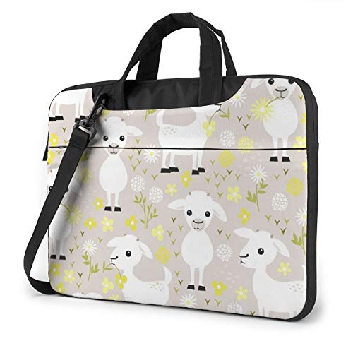 MATEH Baby Goats Laptop Sleeve Case 14 Inch Computer Tote Bag Shoulder Messenger Briefcase for Business Travel