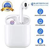 Best Bluetooth Stereo Headset For Iphones - Bluetooth 5.0 Wireless Earbuds Headsets Bluetooth Headphones 【24Hrs Review