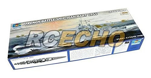 RCECHO® Trumpeter Military Model 1/700 War Ship French Jean Bart 1955 Hobby 05752 P5752 with 174; Full Version Apps Edition