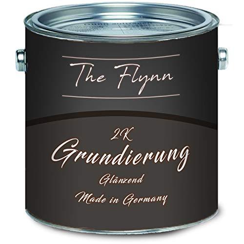 The Flynn hoogwaardige 2-K grondlaag mat 2-componenten verf incl. Verharder in set kleurkeuze wit grijs zwart 5 kg roodbruin