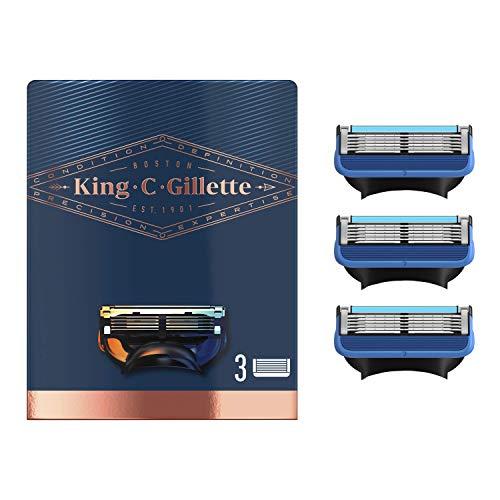 King C. Gillette Shave & Edging Razor Blades, Ersatzklingen 3er Pack