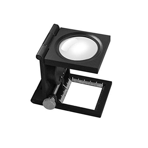 Vergrößerungsglas Lupe 10 mal nach Tuch Spiegel Herrscher Zeiger mit Licht zu identifizieren Stoff Textile