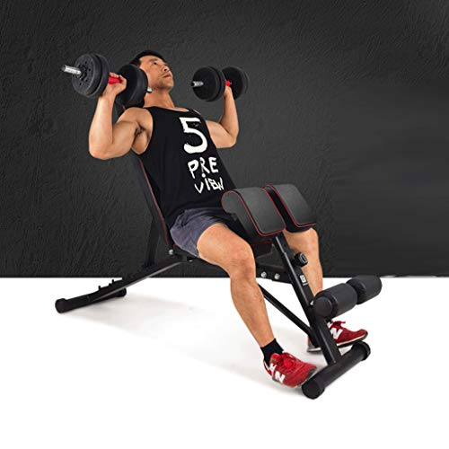 LZL with Priest Stool Weight Bench,Exercise Utility Bench Upright, Incline, Decline, and Flat Exercise for Home Gym Workout Weightlifting Bed (Color : Black)