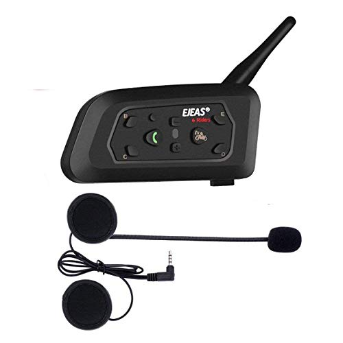 V6 Pro 1200m Intercom Moto Bluetooth,Casques Kit Moto Main...