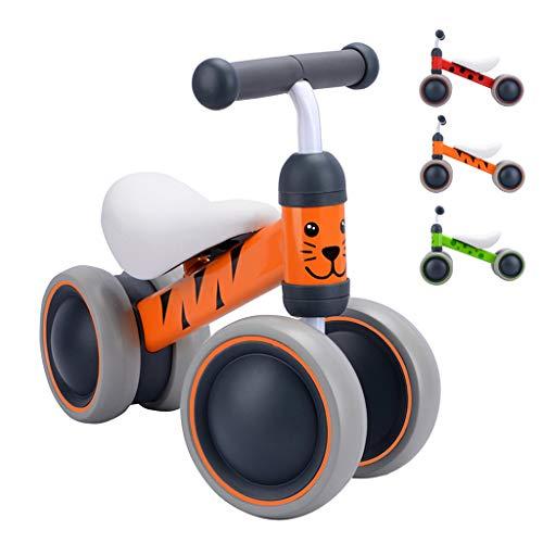 BOLDCUBE Kinder Laufrad Lauflernrad Balance Fahrrad ohne Pedale Dreirad Spielzeug für 1 Jahr, Erstes Baby Laufrad für Jungen Mädchen, Empfohlenes Alter: 10-24 Monate (Benny Tiger)
