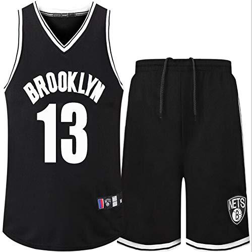 James Harden # 13 Jerseys de Baloncesto Traje + Pulsera Camisetas para Hombre Sudadera Uniforme de Equipo Regalo Memorial Negro (Color : Black, Size : M)
