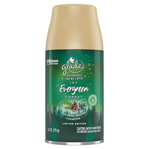 Glade Automatic Spray Refill Icy Ever Green Forest, Fits in Holder For Up to 60 Days of Freshness, 6.2 Ounces, 1 Refill