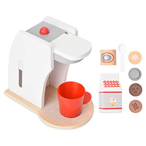 YOUTHINK Casa de Juegos para niños Juguete Simulación de Madera Cocina Cocina Cafetera Juguete Cafetera de Madera Juego de Cocina