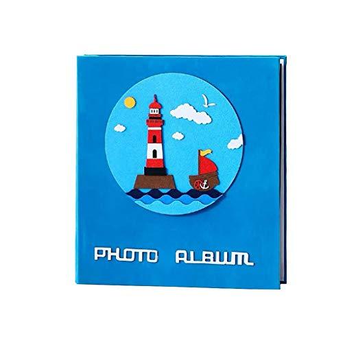 HU Tissu Deerskin Pocket Album 6 Pouces 800 Feuilles, adapté for Les familles, la Croissance bébé Livre des Records, Wedding Album 35x38cm (Color : Blue-B)