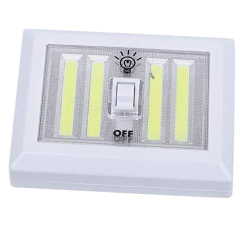 H HILABEE Interruptor de Luz Nocturna con Pilas, Inalámbrico, Armario, Lámpara de Armario, Blanco, 5W