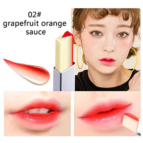 Aesyorg Lippen Make-up Zweifarbiger V-förmiger Lippenstift Wasserdichte und lang anhaltende feuchtigkeitsspendende Lippe (A2)