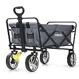 Hoberg Chariot Pliable Classic [Roues chromées optiques pivotantes à 360° avec Freins de Blocage] [capacité de Charge de 80 kg / Gris]