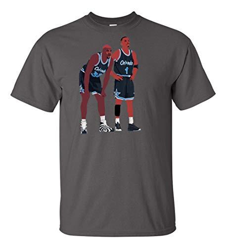 Grey Orlando Shaq Penny Pic T-Shirt Adult