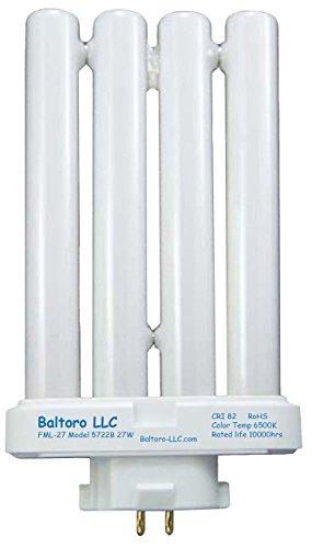 Baltoro Power FML27/50 Linear Quad Compact Fluorescent (CFL) Replacement Bulb for Sunlight Desk or Floor Lamps FML27/EX-D FML27EX/N, 27W