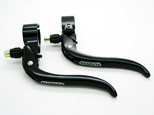 Fahrradlenker-Bremshebel Singlespeed und Kragarm- oder Felgen-Bremsen in schwarz, 3050 NG