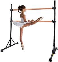 Z ZELUS Portable Ballet Barre Bar for Home Kids Ballet Bar 5ft Adjustable Freestanding Double Stretching Dance Bar, Barre Exercise Equipment for Women with Heavy-Duty Beechwood 330 lb Capacity