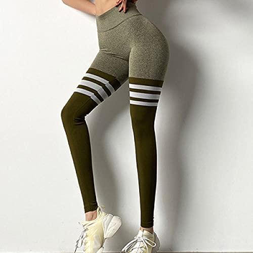 Nalgas de melocotón Sexy,Pantalones de Fitness de Tres Barras de durazno Pantalones de Yoga elásticos de la Cintura Alta Femenina-GRAMO_S