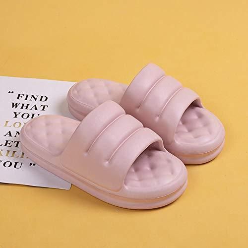 XZDNYDHGX Zapatos De Playa Y Piscina Mujer,Zapatillas Unisex de Fondo Grueso, Verano, Piso Interior, Antideslizante, Pareja, Familia, Mujeres, Hombres, baño, Sandalia de baño, Rosa, UE 34-35