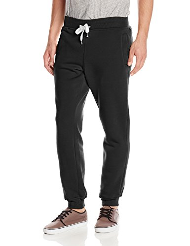 Southpole Men's Active Basic Jogger Fleece Pants, Black, Large