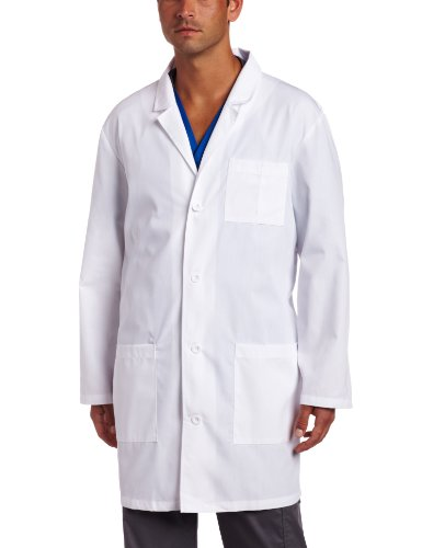 Dickies Everyday Scrubs Unisex 37 Inch Lab Coat,White,Small