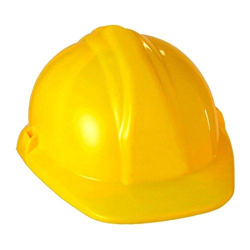 NET TOYS Bauhelm Bauarbeiter Helm gelb Bauarbeiterhelm Baumeister Schutzhelm Handwerker Kopfbedeckung Mottoparty Village People Kostüm Zubehör