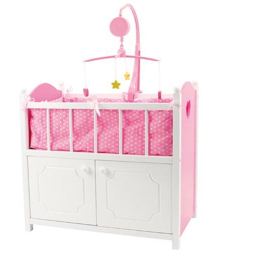 Speelgoed GL315 - Puppenmöbel Puppenbett mit Musik