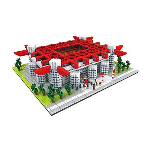 JXINGY El Nuevo Bloque de Construcción Estadio de Fútbol de Milán Nano Micro Bloques Juguetes de Construcción, 3800 + Piezas Nano Mini Bloques Juguetes De Bricolaje
