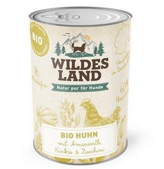 Wildes Land Hundefutte Nassfutter Bio Huhn 400g (6 x 400g)