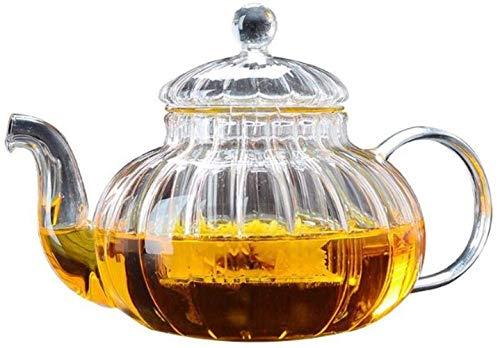 YONGYONGCHONG Tetera de hierro fundido transparente hoja suelta tetera hervidor de té resistente al calor espesar vidrio coladores de té para el hogar Oficina Conferencia Fiesta 600ml Accesorios de té