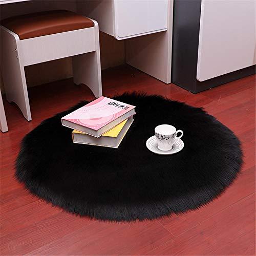 RUGMRZ Moderne stijl Mooie en sfeervolle vloerbedekking tapijt rond multi-grootte pluche zwart 6 cm lange levensduur plafond