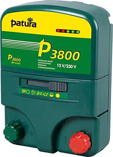 Patura Weidezaungerät P 3800-12 Volt/230 Volt - 5-stufige Zaun- und Batteriekontrolle - für hohe Hütesicherheit und bei robusten Tieren - mit Tiefentladeschutz