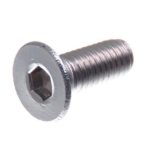 SECCARO Tornillo avellanado M3 x 8 mm, acero inoxidable V2A VA A2, DIN 7991 / ISO 10642, hexágono interior, 20 piezas